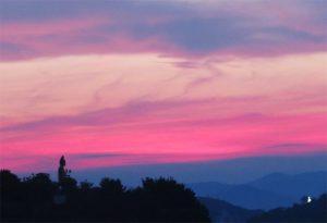 高津子山からの夕焼け2